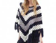 Crochet Poncho with Tassel Hem Chicnova online fashion store China