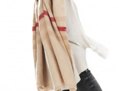 Striped Cape with Tassel Chicnova online fashion store China
