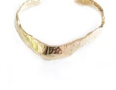 Asymmetric Oganic Gold Cuff Carnet de Mode online fashion store Europe France