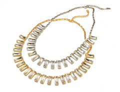 Baguette Crystal Necklace MrKate.com online fashion store USA
