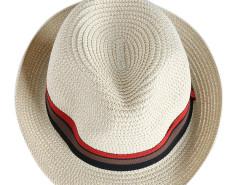 Beige Band Roll Up Brim Straw Hat Choies.com online fashion store United Kingdom Europe
