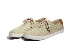 Beige Ethnic Printed Sneakers in Canvas - Robert Carnet de Mode online fashion store Europe France