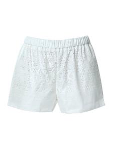 Beige Laser Out Elastic Waist Shorts Choies.com online fashion store United Kingdom Europe