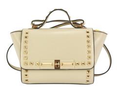 Beige Stud Embellished Winged Satchel Bag Choies.com online fashion store United Kingdom Europe