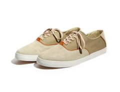 Beige and Kaki Sneakers in Canvas - Robert Carnet de Mode online fashion store Europe France