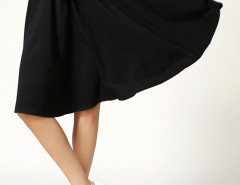 Black Bowknot High Waist Skater Skirt Choies.com online fashion store United Kingdom Europe