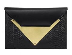 Black Clutch Python Le Parisien Carnet de Mode online fashion store Europe France
