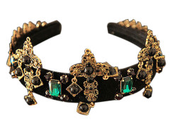Black Cross And Leaf Shape Rhinestone Detail Hairband Choies.com online fashion store United Kingdom Europe