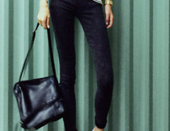 Black Elastic Waist Skinny Jeans Choies.com online fashion store United Kingdom Europe