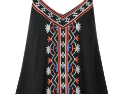 Black Embroidery Layer Cami Vest Choies.com online fashion store United Kingdom Europe