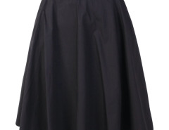 Black High Waist Belted Waist Skater Skirt Choies.com online fashion store United Kingdom Europe