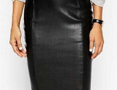 Black High Waist PU Pencil Skirt Choies.com online fashion store United Kingdom Europe