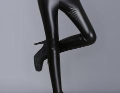 Black High Waist Skinny PU Pants Choies.com online fashion store United Kingdom Europe