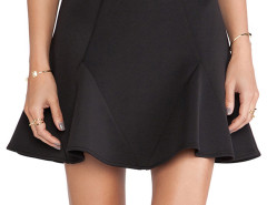 Black High Waist Trumpet Mini Skirt Choies.com online fashion store United Kingdom Europe