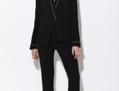 Black Kimono Blazer with Golden Thread Carnet de Mode online fashion store Europe France