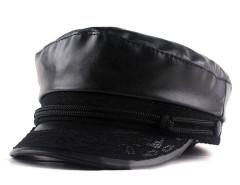 Black Lace Detail Short Brim Hat Choies.com online fashion store United Kingdom Europe