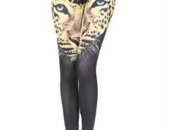 Black Leopard Pattern High Waist Leggings Choies.com online fashion store United Kingdom Europe