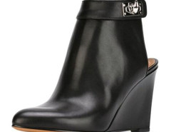 Black Metal Detail Ponited Wedge Ankle Boots Choies.com online fashion store United Kingdom Europe