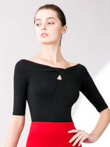 Black Off Shoulder Cut Out Front Half Sleeve Ruched T-shirt Choies.com online fashion store United Kingdom Europe