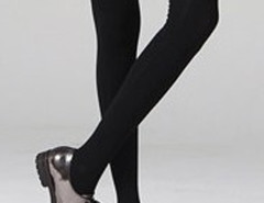 Black Over The Knee Socks Choies.com online fashion store United Kingdom Europe