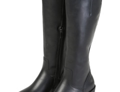 Black PU Zipper Side High Boots Choies.com online fashion store United Kingdom Europe