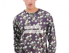 Black Polyester Sweatshirt - Crazy Diamond Carnet de Mode online fashion store Europe France