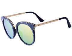 Black Printed Frame Cat Eye Mirror Sunglasses Choies.com online fashion store United Kingdom Europe