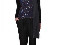 Black Printed Top Madrid Carnet de Mode online fashion store Europe France