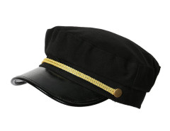 Black Short Brim Glod String Detail Hat Choies.com online fashion store United Kingdom Europe