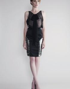 Black Silk Chiffon Blouse - Puri Arci Carnet de Mode online fashion store Europe France