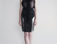 Black Silk Chiffon Blouse - Puri Arci Carnet de Mode online fashion store Europe France