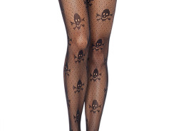 Black Skull And Polka Dot Tights Choies.com online fashion store United Kingdom Europe