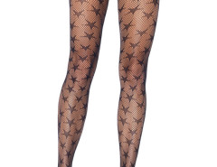 Black Star Pattern Fish Net Tights Choies.com online fashion store United Kingdom Europe