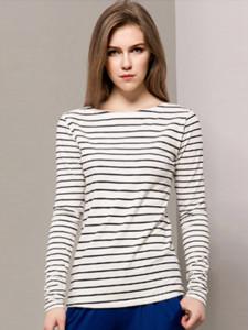 Black Stripe Long Sleeve T-shirt Choies.com online fashion store United Kingdom Europe