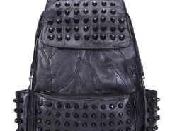 Black Studded Detail Top Handle Backpack Choies.com online fashion store United Kingdom Europe