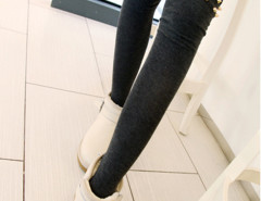 Black Studded Thigh High Socks Choies.com online fashion store United Kingdom Europe