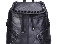 Black Studs Embellished Top Handle Backpack Choies.com online fashion store United Kingdom Europe