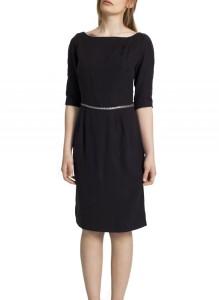 Black Tencel Dress with Leather Belt Carnet de Mode online fashion store Europe France