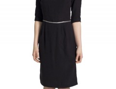 Black Tencel Dress with Leather Belt Carnet de Mode online fashion store Europe France