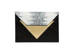 Black and Python Leather Le Parisien Clutch Carnet de Mode online fashion store Europe France