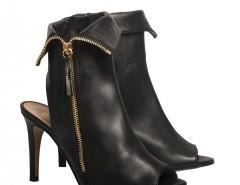 Black leather open-toe ankle boots De Siena - Camille Carnet de Mode online fashion store Europe France