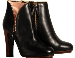 Black leather zip ankle boots De Siena - Greta Carnet de Mode online fashion store Europe France