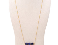 Blue Boho Bead Chain Tasseled Pendant Necklace Choies.com online fashion store United Kingdom Europe