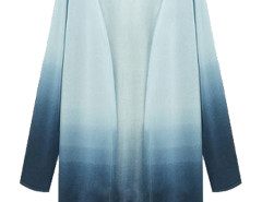 Blue Fade Long Sleeve Open Front Cardigan Choies.com online fashion store United Kingdom Europe