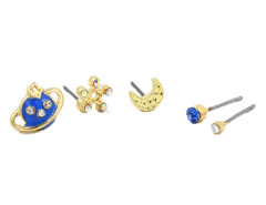 Blue Jewel Planet Moon And Star Earring Pack Choies.com online fashion store United Kingdom Europe