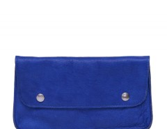 Blue Leather Purse Carnet de Mode online fashion store Europe France