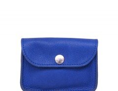 Blue Leather Small Purse Carnet de Mode online fashion store Europe France