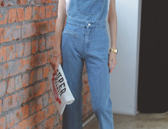 Blue Pocket Ripped Hem Detachable Strap Denim Overalls Choies.com online fashion store United Kingdom Europe