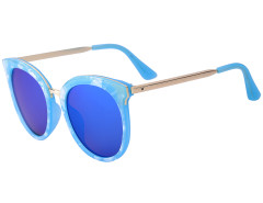 Blue Printed Frame Cat Eye Mirror Sunglasses Choies.com online fashion store United Kingdom Europe