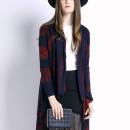 Blue Reindeer Pattern Long Sleeve Waterfall Knitted Cardigan Choies.com online fashion store United Kingdom Europe